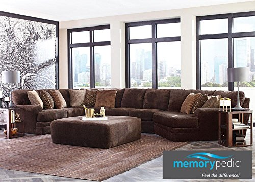 THE ROOMPLACE Denali Chocolate 3 Pc. Sectional With Cuddler Chaise (Reverse) - Sofa
