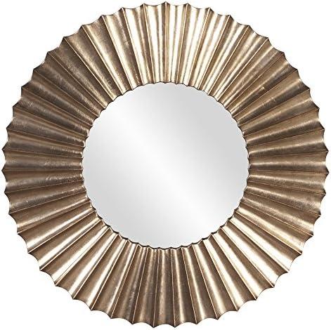 Howard Elliott 53058 Olivia Leaf Mirror, Silver