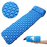 AGM Camping Sleeping Pad Ultralight for Camping, Backpacking, Hiking with Pillow, Lightweight, Waterproof, Compact, Durable, Storage Bag Included