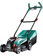 Bosch Cordless Lawnmower Rotak 32 LI (1 Batteries, Grass Box 31 l, Cutting Width/Height: 32 cm/3-6 cm, In Cardboard Box)