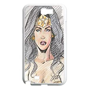 Custom case Wonder Woman phone Case Cove For Samsung Galaxy Note 2 Case JWH9205826