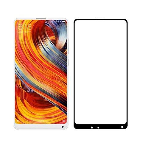 Azzil® Tempered Glass 4D 9H Screen Protector Guard for Xiaomi Mi Mix 2  Black