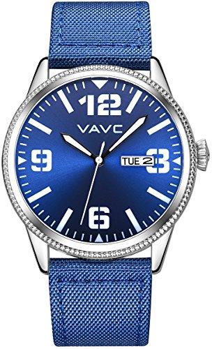 inimalist Casual Blue Nylon Band Analog Quartz Wrist Watch with Blue Dial (Analog Blue Dial Watch)