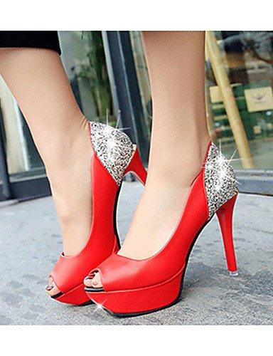 De casual Red Uk6 Rojo Mujer Stiletto Zapatos Eu39 Ggx Blanco us8 pu negro tacones Cn39 tacones tacón 0x5fZ