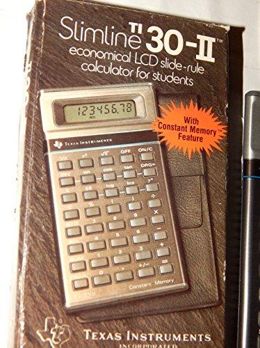 TI 30-II Slimline LCD Slide Rule Calculator by Texas Instruments - 1982 Vintage Item