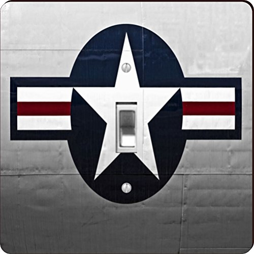 Rikki Knight RK-LSPS-8933 United States Air Force Logo Design Light Switch Plate Cover by Rikki Knight