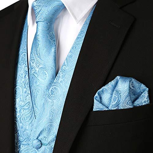 83f5723eff333 8 · ZEROYAA Mens Classic 3pc Jacquard Paisley Vest Set Necktie Pocket  Square Waistcoat for Suit or Tuxedo