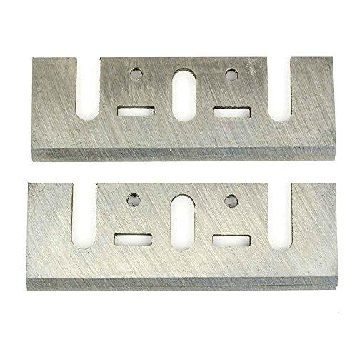 Superior Steel PB1200-2PK Planer Blades for Dewalt Makita Bosch Planers 3-1/4 inch (82mm) (4 Blades)