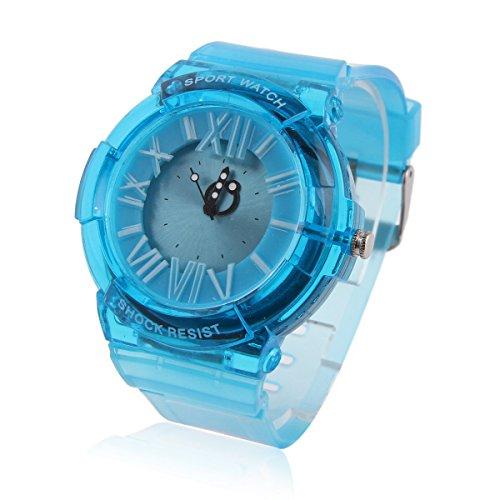 Damara Teens Boy's Silicone Shock Resist Sport Watches,Blue by Damara