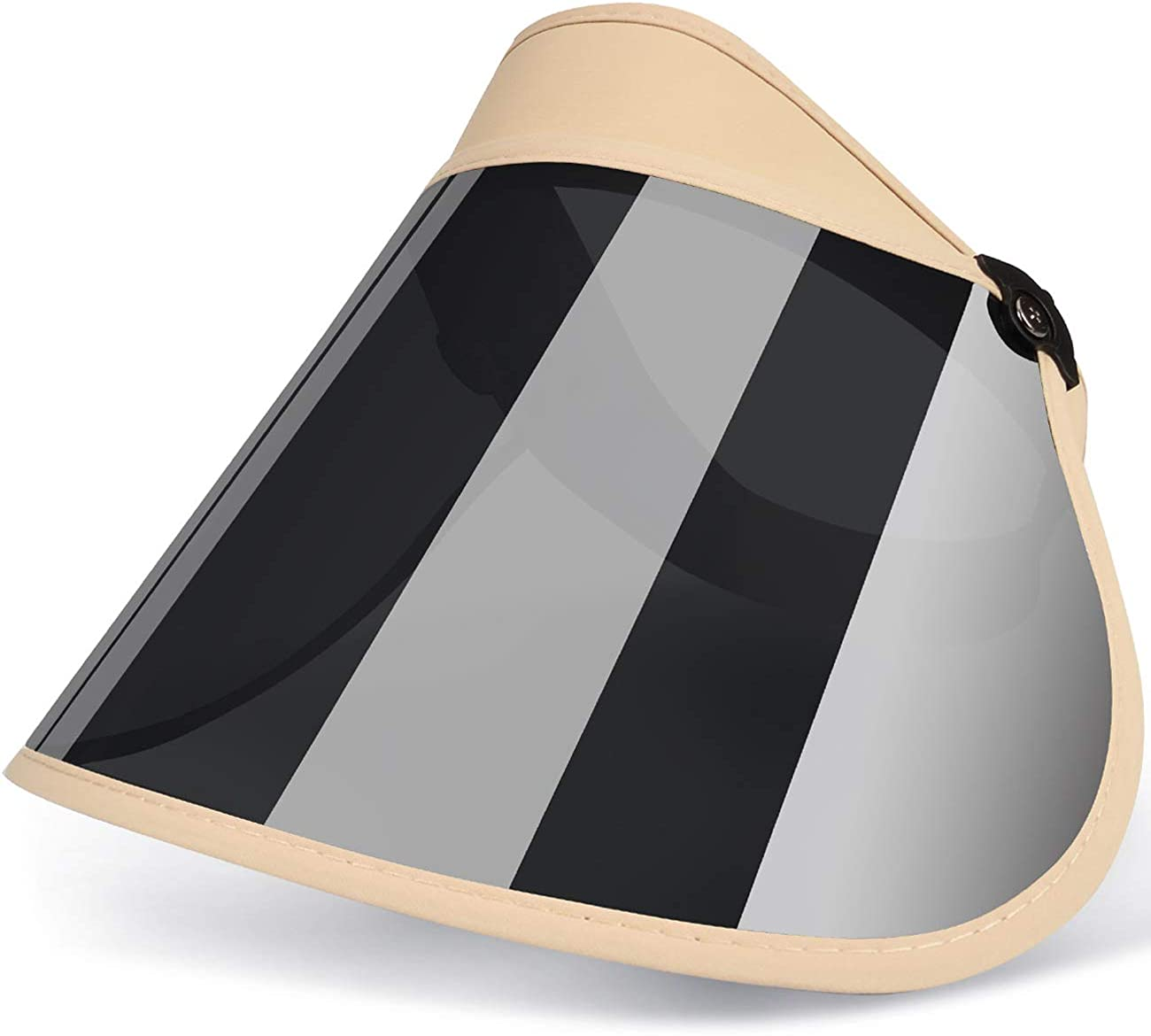 Maylisacc Full-Face UV Portection Sun-Visors Adjustable for Women Packable Sun Visor Hat for Summer Outdoors Cycling