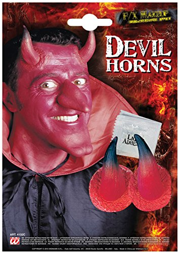 Devil Horns With Adhesive Red Accessory For Halloween Lucifer Satan Fancy Dress]()