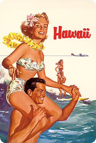 (Hawaiian Vintage Postcards Pack of 30 - Hawaii - Northwest Orient Airlines )