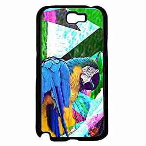 Colorful Parrot Plastic Phone Case Back Cover Samsung Galaxy Note II 2 N7100