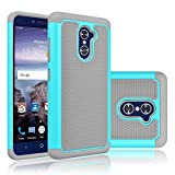 ZTE Grand X Max 2 Case, ZTE Imperial Max Case, ZTE Kirk Case, Tekcoo [Tmajor Series] Shock Absorbing Rubber Plastic Defender Case Cover For ZTE Max Dual Pro / ZTE Kirk Z988 Z963U - Turquoise
