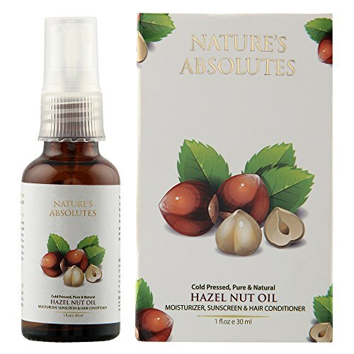 Nature's Absolutes Coldpressed organic Hazelnut Oil - 1Oz/30 ml For Skin , Face and (Hazelnut Essential Oil)