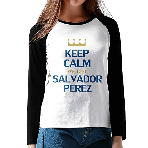 Ahey Lady's Raglan Kansas Baseball Royals Activewear Tshirt Black XL (Sarasota Outlets)