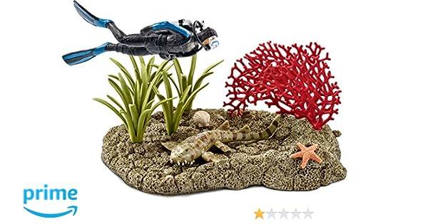 Schleich - Buceador en Arrecife de Coral (42328): Amazon.es: Juguetes y juegos