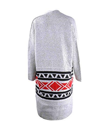 ZLYC - Cárdigan - Étnica - para mujer gris