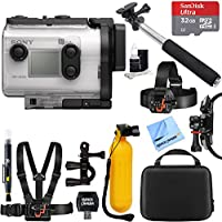 Sony HDR-AS300 HD Wi-Fi GPS Action Camera with Balanced Optical SteadyShot + 32GB Outdoor Adventure Mounting Bundle