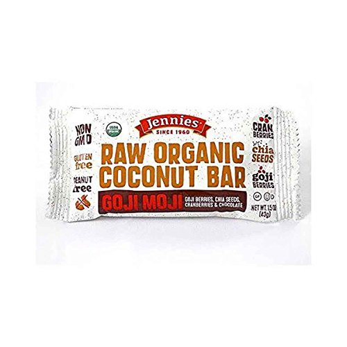 Jennies, Bar, Og2, Goji Moji Rw Cnut, Pack of 12, Size - 1.5 OZ, Quantity - 1 Case by Jennies