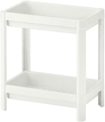 IKEA VESKEN Estantería con 2 niveles, color blanco (36 x 23 x 40 cm)
