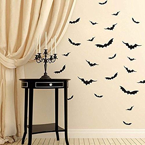 AmericanVinylDecor Halloween Wall Decor- Flying Bats Vinyl Gothic Art Sticker Party Room Decoration