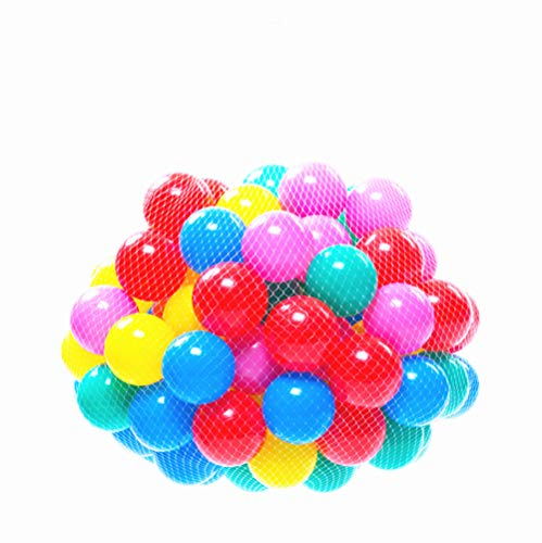 Soft Balls 100 pcs with a Storage Bag Multi-Colored BPA-free Play Tent Balls Thicken Plastic Secure Ocean Playpen - Pit Of Bag Play Plastic
