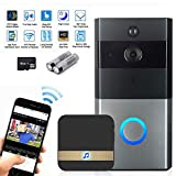 Video Doorbell,KOBWA Wireless Video Doorbell,Real-Time Two-Way Talk and Video, Night Vision, PIR Motion