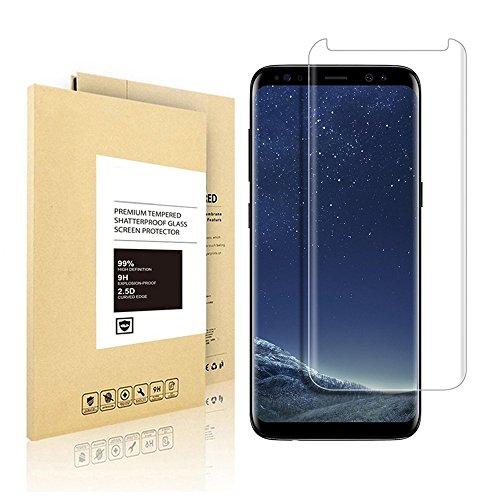 Samsung Galaxy S8,Linboll Panzerglas Displayschutzfolie für Samsung Galaxy S8 mit Härtegrad 9h Abgerundete Kanten (2.5D)[Hohe Transparenz][Fingerabdruck-frei][Blasenfrei]