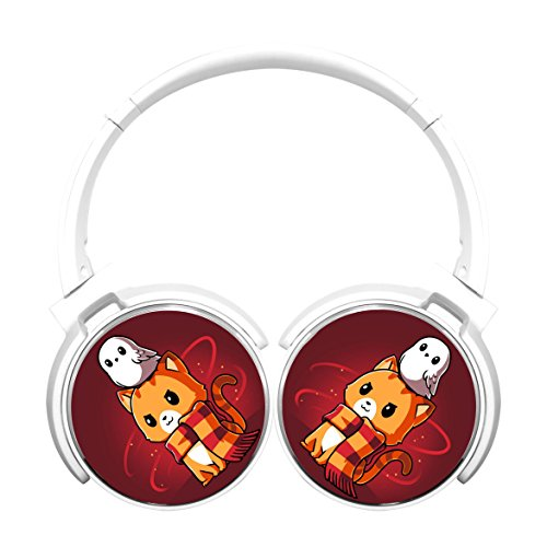 MagicQ Brave Kitty Bluetooth Headphones,Hi-Fi Stereo Earphones White (Headphones Earphones Bravo)
