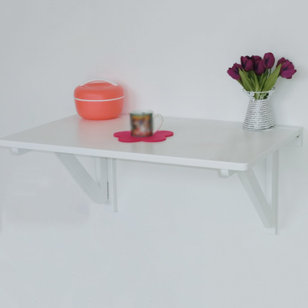 WSSFソリッドウッド壁掛けテーブル折り畳み式ダイニングテーブルコンピュータデスクラーニングデスク(カラー、サイズオプション) (色 : 白, サイズ さいず : 60*40cm) B07BX3FH46 60*40cm|白 白 60*40cm