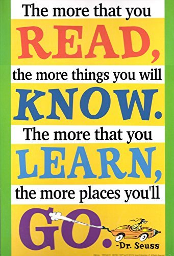 The more that you Read... Dr. Seuss Quotation Decorative Sign Poster (Dr Seuss Signs)