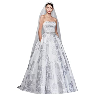 Floral Brocade Ball Gown Wedding Dress Style CWG789 at Amazon ...