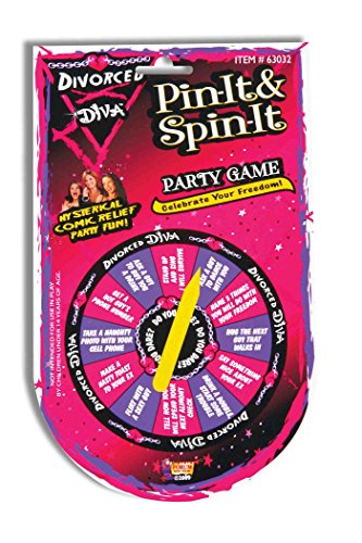 Forum Novelties Divorced Diva Pin It and Spin It Happy Divorce Party Game