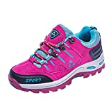 Women Shoes,Clearance Sale!!Farjing Men and Women Outdoor Casual Lace-up Comfortable Running Mountaineering Shoes(US:5.5,Hot Pink)