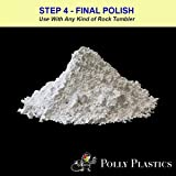 Polly Plastics Rock Tumbler Media Grit Refill, 1 lb Final Polish 1200 Fine Aluminum Oxide, Stage 4 for Tumbling Stones