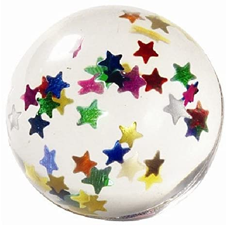 Amazon.com: Star Glitter Bounce Balls | Party Favor | 12 Ct.: Kitchen & Dining