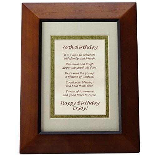 Happy 70th Birthday Toast Poem - 70th Birthday Gift