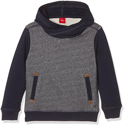 s.Oliver Jungen Sweatshirt 63.610.41.5795, Blau (Dunkel Zyan Aop 58A7), 116 (Herstellergröße: 116/122)