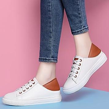 NGRDX&G Zapatos Blancos Zapatos De Mujer Zapatos Zapatos Informales Zapatillas Blancas, Marrón, ...
