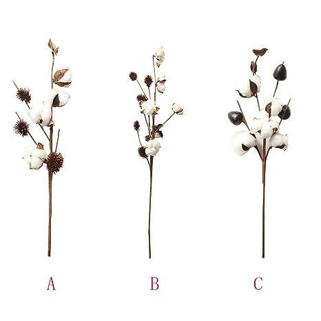 Amazon.com: YJYdada - Flor artificial de algodón seco ...