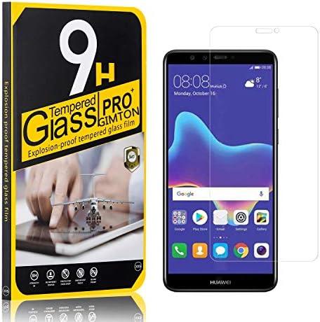 GIMTON Displayschutzfolie für Huawei Y9 2018, Ultra klar Schutzfilm aus Gehärtetem Glas, Anti Kratzen Displayschutz Schutzfolie für Huawei Y9 2018, 4 Stück
