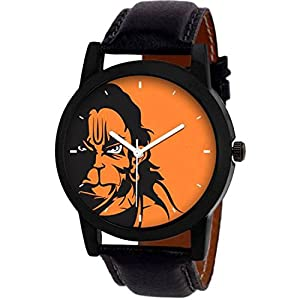 Shunya Alkh Analogue Hanuman Multicolour Dial Men's Watch