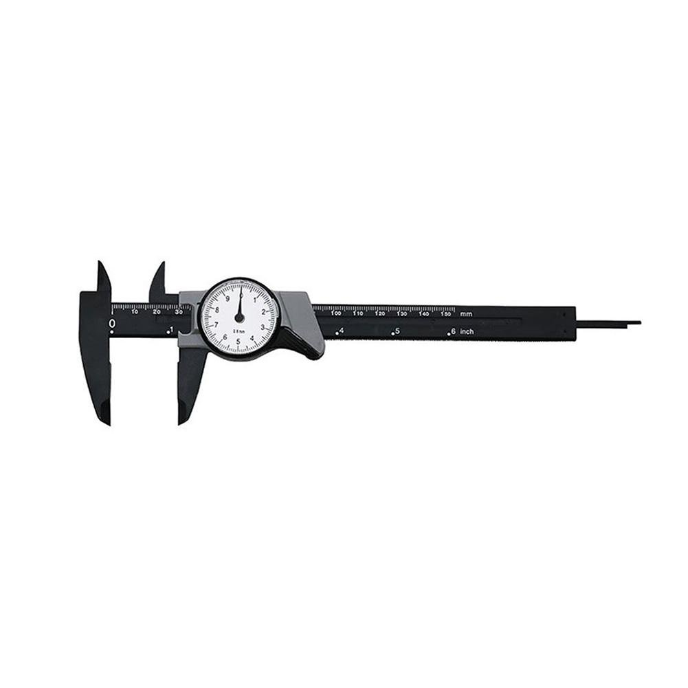 0-150MM portable vernier caliper-dial caliper shockproof plastic vernier caliper high precision metric micrometer portable measuring instrument micrometer tool haodene