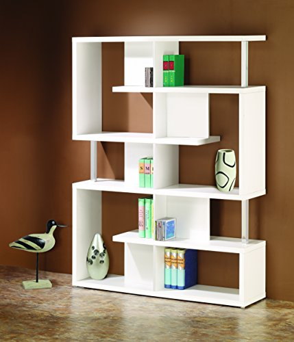 Coaster Transitional White Finish Bookcase