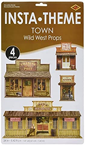 Wild West Town Props Party Accessory (1 count) (4/Pkg) (Wild West Accessories)