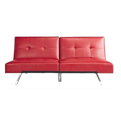 Astonishing Amazon Com Abbyson Riley Convertible Sofa In Red Kitchen Inzonedesignstudio Interior Chair Design Inzonedesignstudiocom