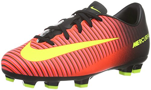 NIKE Jr. Mercurial Vapor Xi FG Soccer Cleat (3.5Y) Total Crimson, Black by NIKE