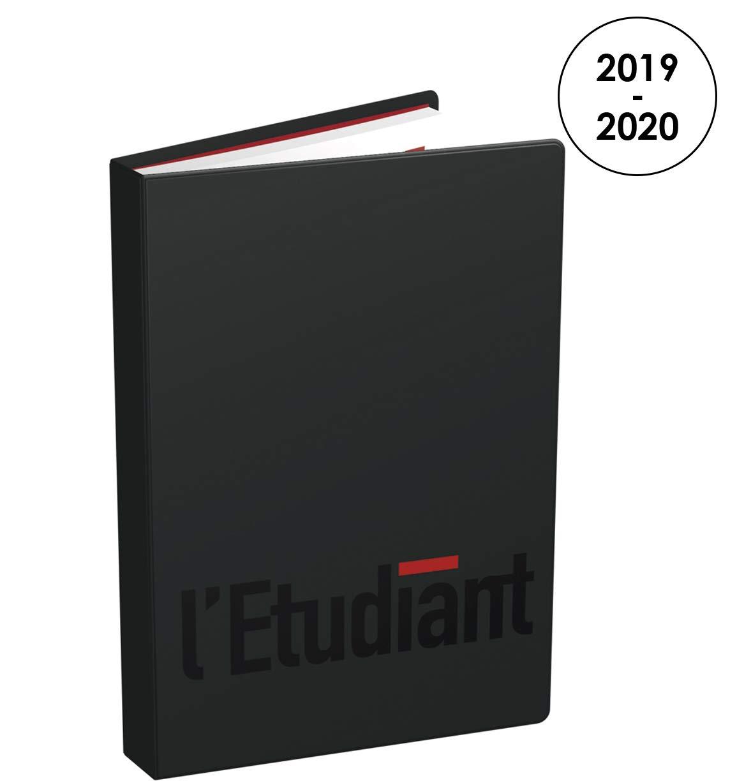 L'Étudiant Hebdo Agenda Journalier 2019-2020 de Août à Août 1 Jour par Page Format 12x17cm Couverture PVC Noir