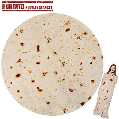 LetsFunny Burrito Tortilla Blanket Novelty product image